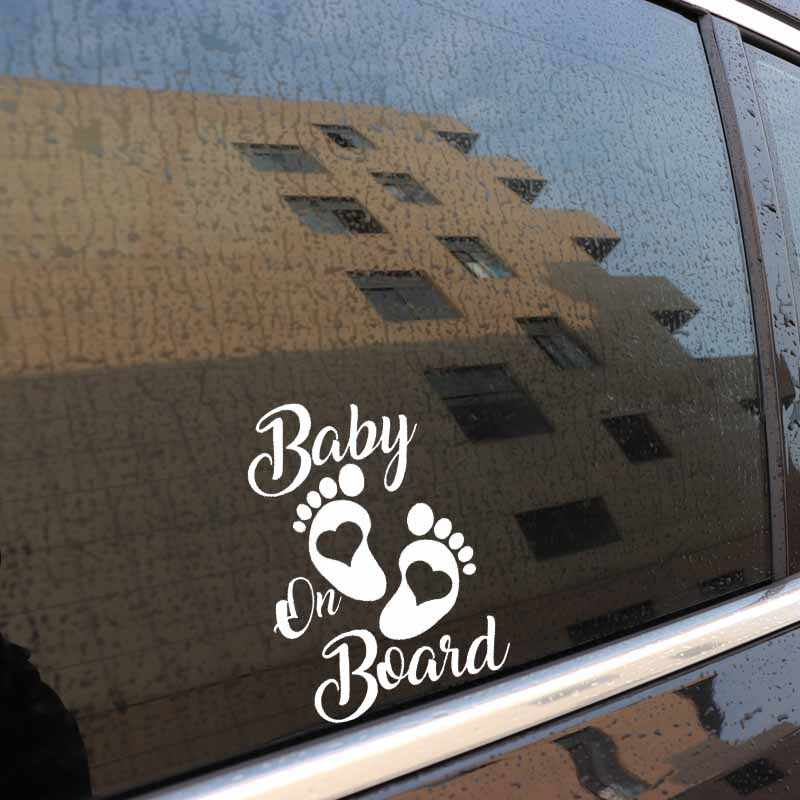 Aliauto belle voiture autocollant bébé à bord décor vinyle autocollant étanche pour Mitsubishi Lada Honda Crv VW Passat Skoda, 17cm * 12cm