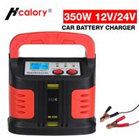 Cargador de batería automático portátil para coche y motocicleta, arrancador de batería de coche, 350W, 14A, LCD ajustable, cargador rápido de energía inteligente, 12V-24V