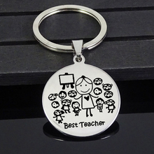 Keyring Keychain Jewelry-Accessories Teacher for Custom Name Gift Engraved Thanks Party