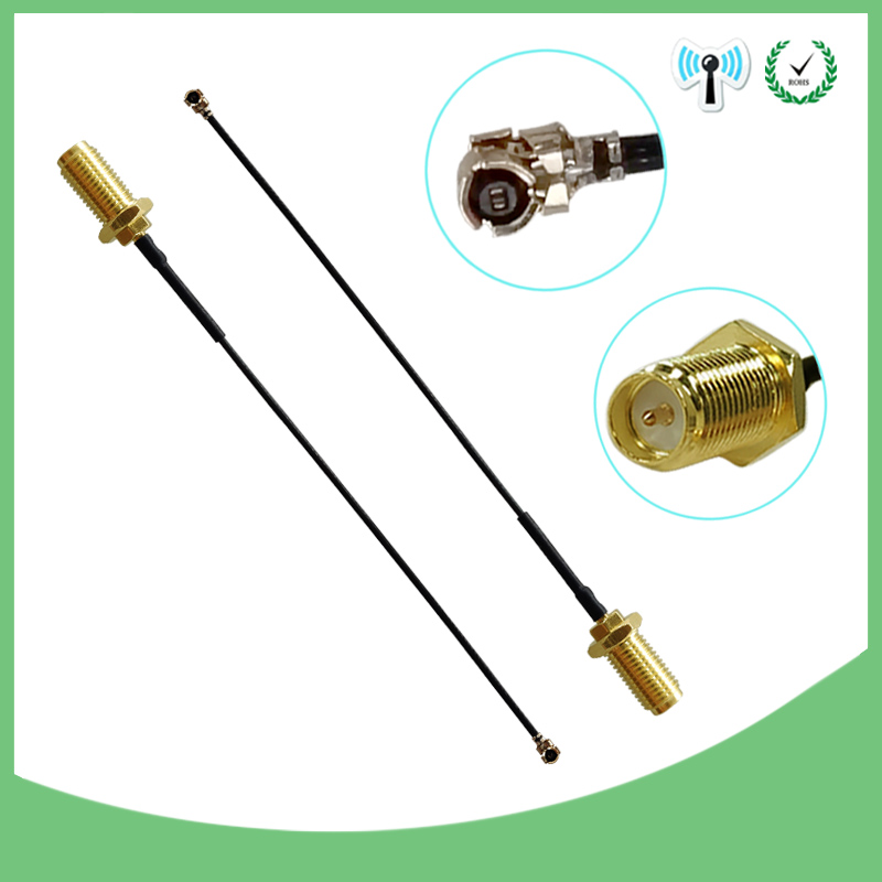 2pcs Extension Cord U.FL IPX To RP-SMA Female Connector Antenna RF Pigtail Cable Jumper For PCI WiFi Card RP-SMA Jack To IPX