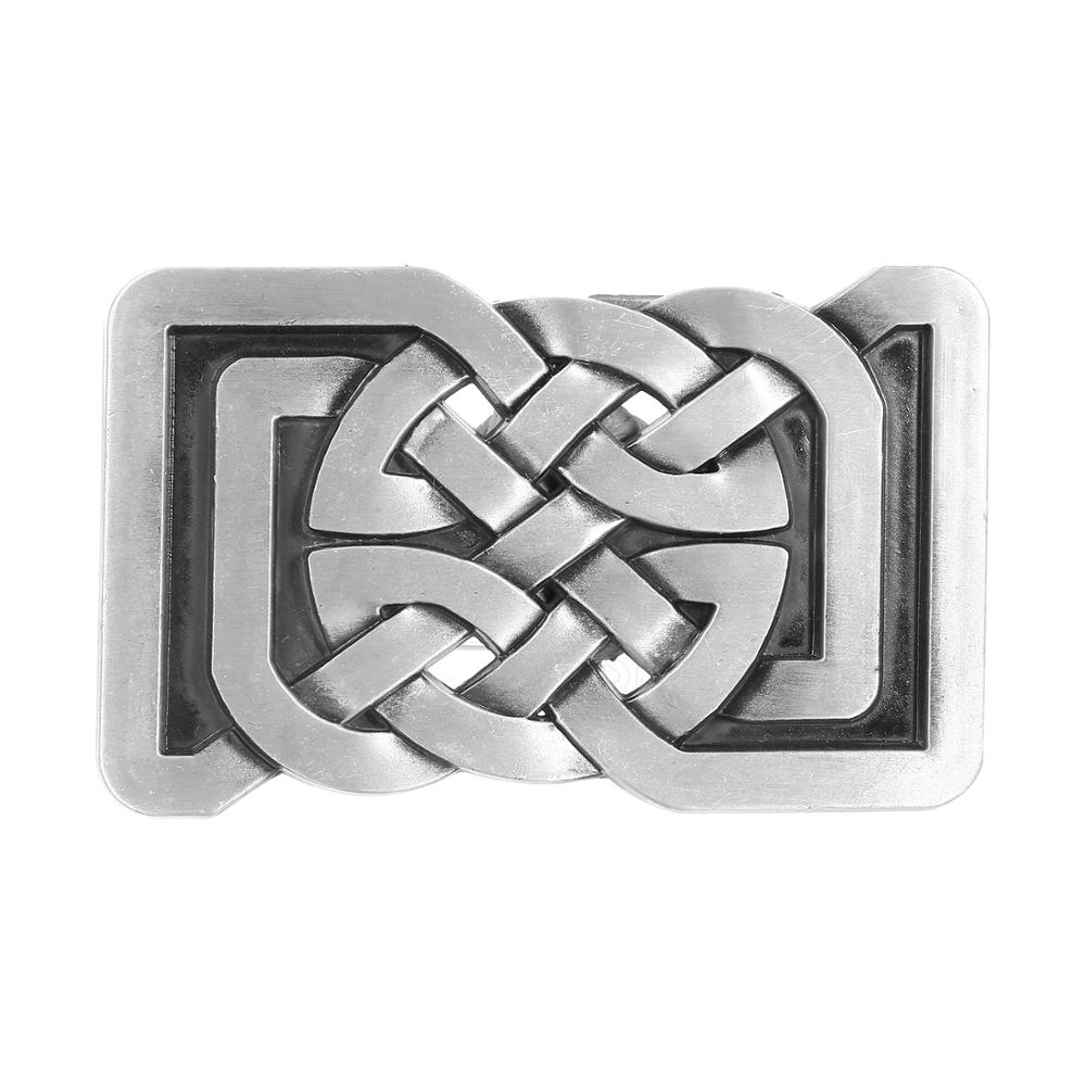 Classic Western Cowboy 3D Wire Rope Buckle, Suitable For 4CM Wide Belt Men's Jeans Accessories