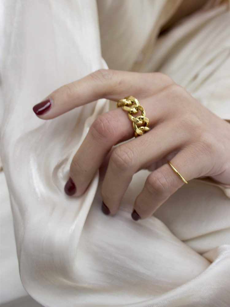 Hb746a7ed1cb1464b8bc1ce033cc27e019 1PC 2020 Fashion Golden Metal Rings for Women