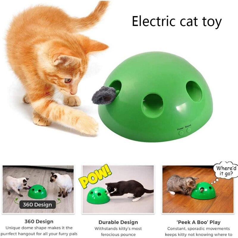 Animal de estimação elétrico criativo engraçado gato bandeja treinamento brinquedo gato arranhando dispositivo mouse brinquedo interativo jogo de puzzle jogo emocionante brinquedo do gato
