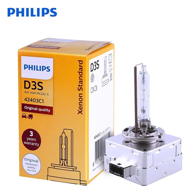 Philips 100% Original D3S Xenon Standard 42403C1 35W Xenon HID Headlight Car Bulb Auto Lamp HL Beam ECE OEM Quality ,1X