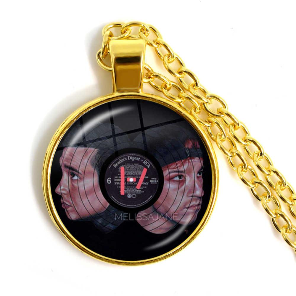 Vinte e um pilotos 4 banda de música colar oferta de aniversário especial gargantilha para como hip-pop redonda de vidro cabochão jóias para mulher
