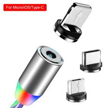 New High-quality 3 In 1 Colorful Magnetic Streamer Fast Charging Cable For Android IOS TYPE-C LED Light Three-color Data