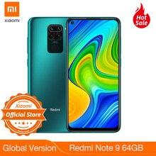 New Global version Redmi Note 9 64GB 3GB RAM Smartphone Helio G85 5020mAh battery 18W fast Charging 6.53″ DotDisplay 48MP Camera