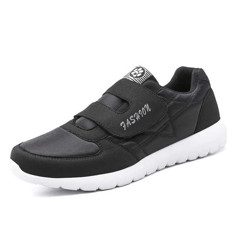 Spring And Autumn Elderly Shoes Dad Shoes Mom Shoes through Shoes Gas Film Shoes for the Old Mesh Middle-aged Walking Shoes