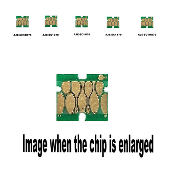 5PACK SC1BK70 SC1C70 SC1M70 SC1Y70 SC1MB70 For Epson Wide-format ink cartridge disposable chip SC-T5050  T5050MS T5250 T5250D