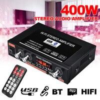 Amplificador de afinação 2ch estéreo do carro do bluetooth do amplificador 2ch com controle remoto 90w