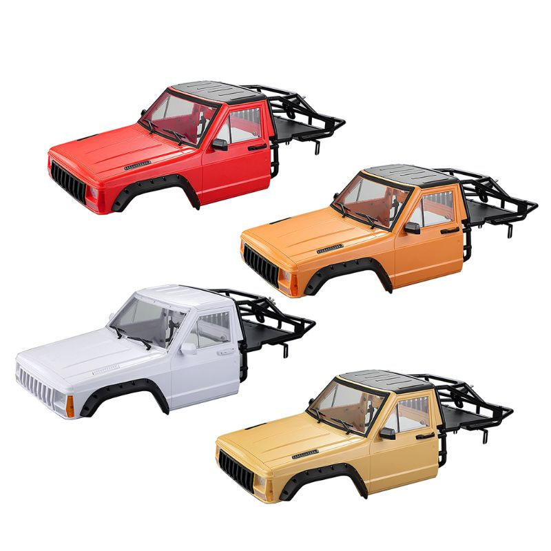 Car Body Cab With Back-Half Cage For 1/10 RC Crawler TRX4 Axial SCX10 90046