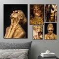 Холщовые картины абстракта Африканской женщины, золотые скандинавские портреты с изображением сексуальной девушки, настенное искусство д...
