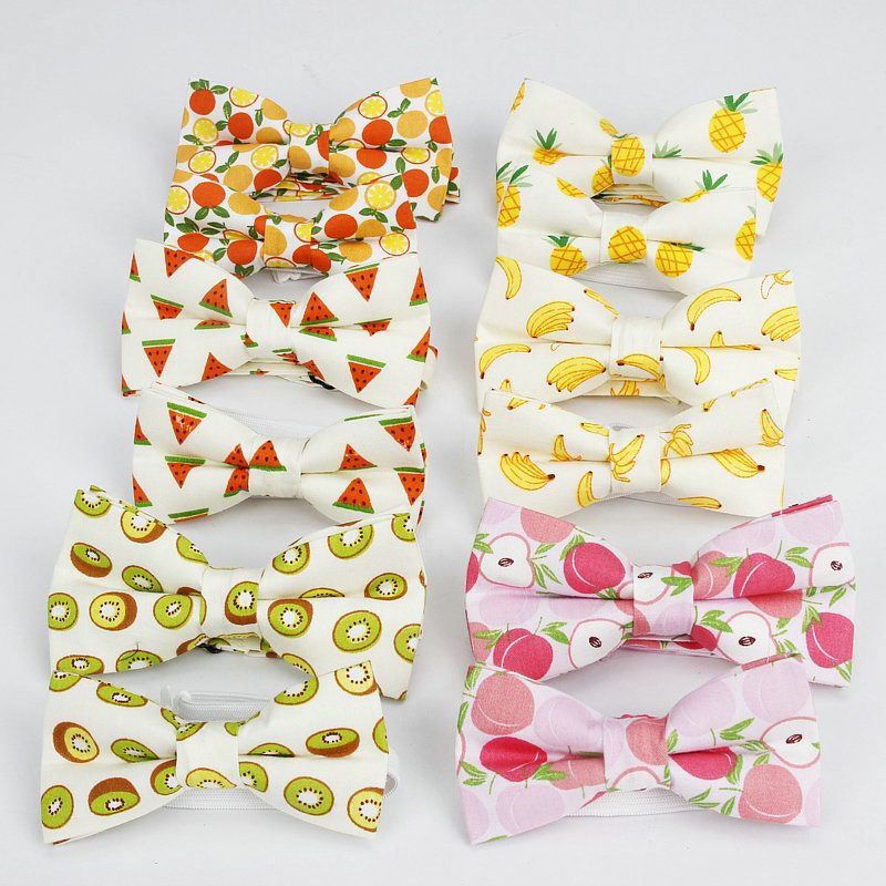 2019 Brand New Men's Cute Print Neck Tie Sets Pocket Square Parents Bow Tie For Child Boys Girls Students Ladies Sweet Bowties