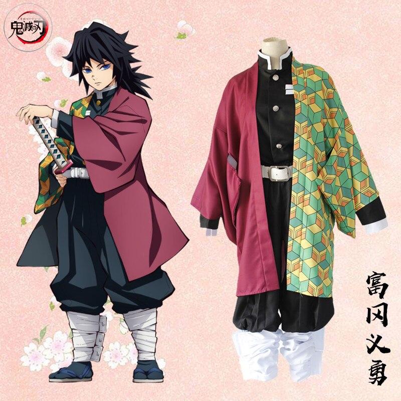 Anime Demon Slayer Cosplay Costume Kimetsu no Yaiba Kamado Tanjirou Kamado Nezuko Agatsuma Zenitsu Tomioka Giyuu Cosplay Costume