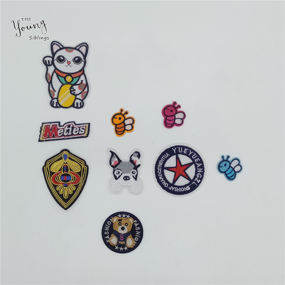 Smiling Milk Patch for Clothes Iron On Sewing Embroidered Applique Clothes ME