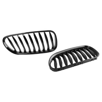 VODOOL 2Pcs Glossy Black Car Front Sport Kidney Grill Grilles Auto Exterior Replacement Accessories For BMW Z4 E85 E86 2003-2008 image
