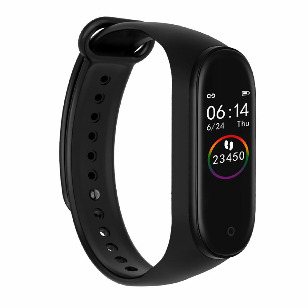 M4 Color Screen Smart Bracelet Sports Pedometer Watch Fitness Running Walking Tracker Heart Rate Pedometer Smart Band
