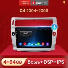 Junsun V1 pro 2G + 32G Android 10 para Citroen C4 C-triunfo C-Quatre 2004 - 2009 auto Radio Multimedia reproductor de Video GPS 2 din dvd
