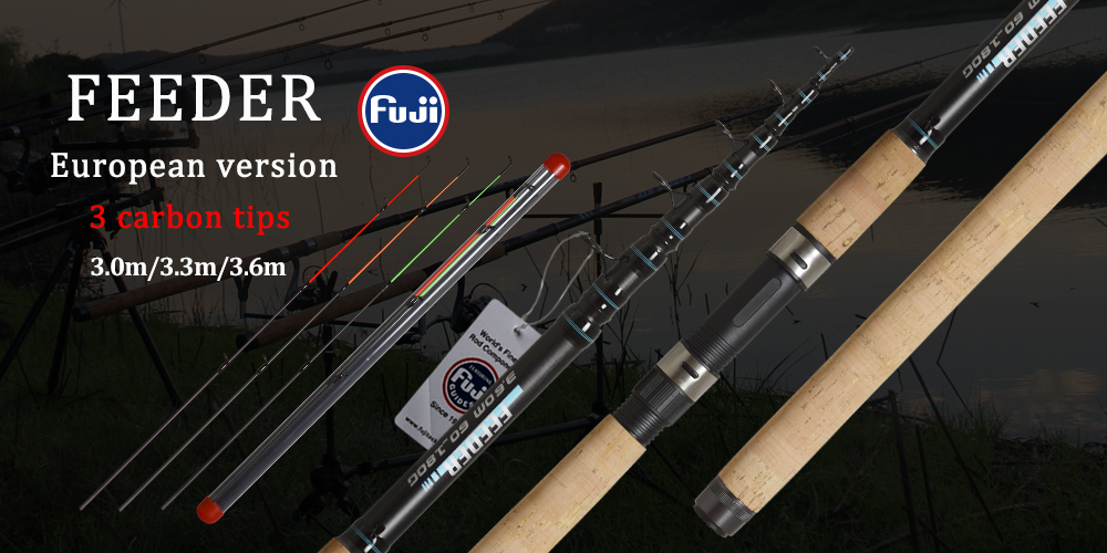 OBEI Carp Fishing Rod 3.3 3.6m Carbon Fiber Telescopic Spinning Rod pesca 3.25lb power 80-200g 11' 12' Hard Pole