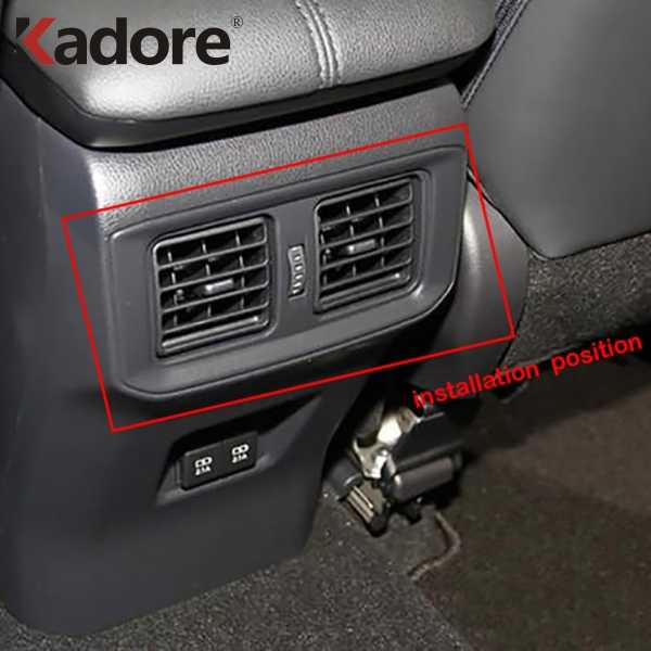 Carbon Fiber Headlight Switch Button Decor Cover Frame For Toyota RAV4 2019 2020