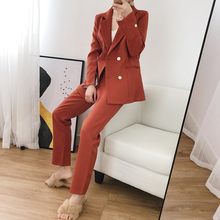 Spring autumn elegant Office Lady blazer OL suit women pants suits
