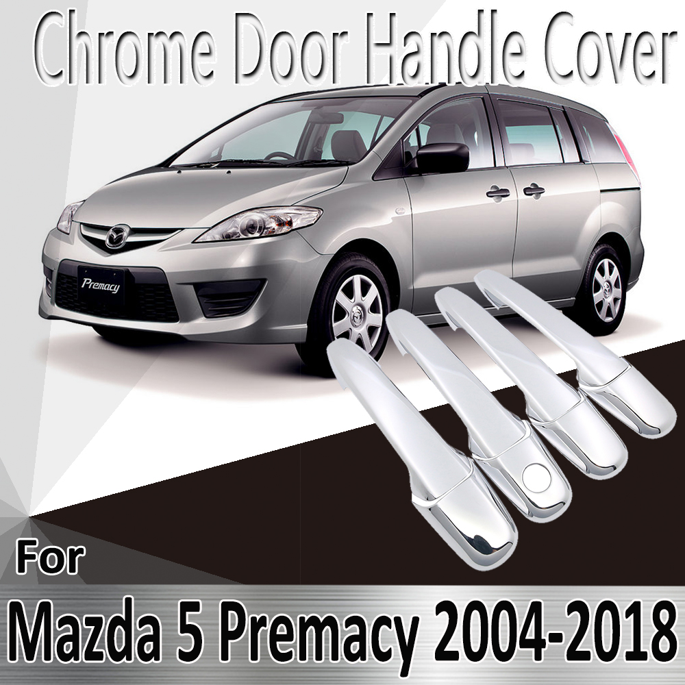 for <font><b>Mazda</b></font> <font><b>5</b></font> Premacy 2004~2018 2005 2008 2011 2014 2015 2017 <font><b>Stickers</b></font> Decoration Chrome Door Handle Cover Refit Car Accessories image
