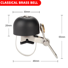 Bicycle Bell Classcial Brass Ring Clear & Lound Tone Safty Riding Alarm Horn Easy to Install Bike DIY Accessory bicycle bike handlebar ball air horn trumpet ring bell loudspeaker noise maker free shipping