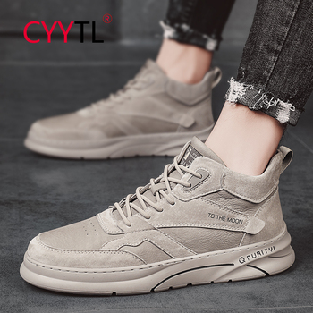 CYYTL Men Shoes England Trend Casual Shoes Male Oxford Leather High Top Walking Sneakers Outdoor Hiking Sports Trainers men 39 s shoes men oxford vulcanize shoes korean men s shoes canvas shoes wild men s casual trend high top to help tides shoes