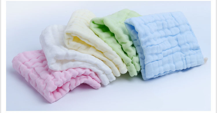 1 Piece 6-layer Washed Gauze Triangle New Born Baby Stuff Bath Kids Cute Boys Girls Infant Newborn Clothing Towel Saliva Towels