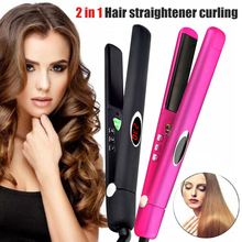 2019 Hot Sale Wholesale Professional Hair Straightener Hair Curler Tool Negative Ions 2 in 1 Straightening Curling M3