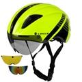 LOCLE 1 zu 3 Objektiv Magnetische Brille Fahrrad Helm Straße Berg MTB In Mold Radfahren Helm Reiten Geschwindigkeit Zeit  Trial Bike Helm-in Fahrradhelm aus Sport und Unterhaltung bei