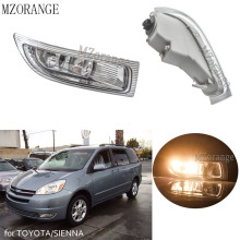 цена на 1/2pcs Fog Light fog lamp for TOYOTA/SIENNA 2004 2005  Front Fog Light Assembly foglamp Daytime Running Light Vehicle Headlight