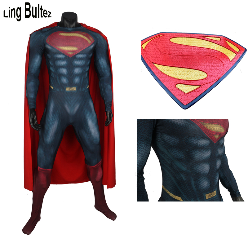 Ling Bultez High Quality Relif Logo Muscle Padding  Man Of Steel Superman Costume Superman Cosplay Costume