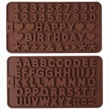 SILIKOLOVE Украшения Торта Инструменты Алфавит заглавные буквы Цифры символов силиконовые формы