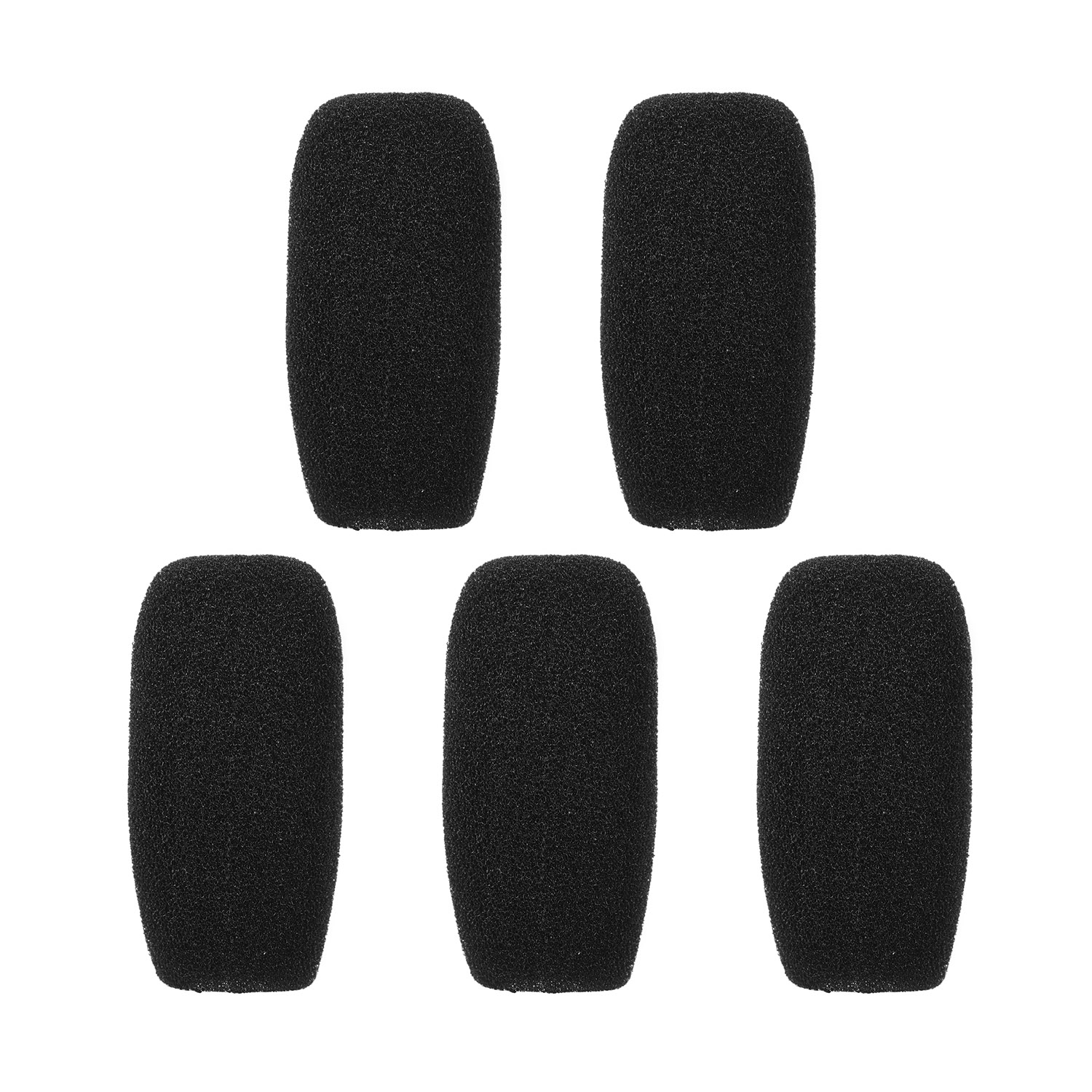 5pcs/lot Mic Cover Microphone Windscreen Windshied Headset Replacement Telephone Headset Foam Microphone Cover