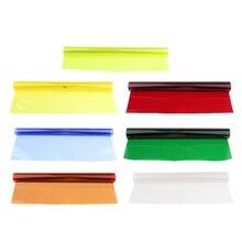 7 Pack 15.7x9.6 in/40x50 cm żele do korekcji kolorów, żel kolorowy filtr żelowy arkusz żelowy do lampa wideo błyskanie studyjne stroboskop
