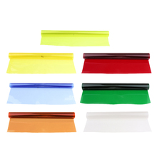 7 pacotes 15.7x9.6 em/40x50 cm gel de correção de cores, filme de filtro de gel colorido, folha para luz de vídeo, estúdio, flash, estroboscópica