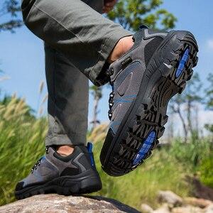 Image 4 - 秋のクラシックメンズカジュアルシューズメンズハイキング靴ジョギングライトスポーツの靴新しいのスニーカーウォーキング摩耗抵抗