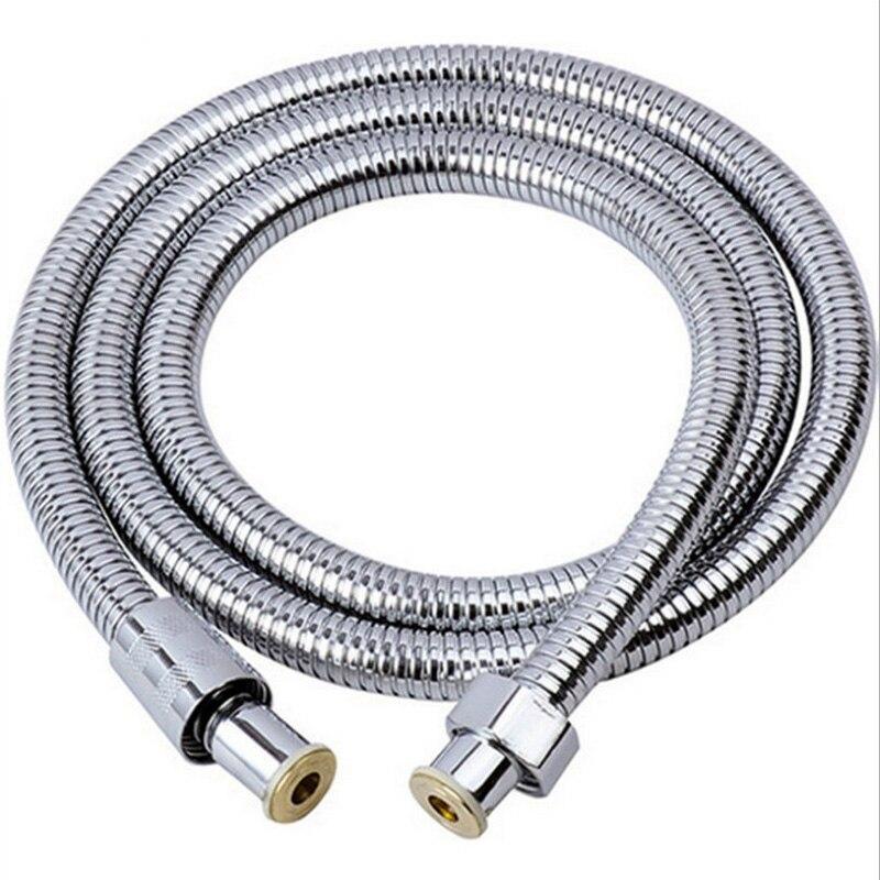 Manguera de ducha 2m para baño tubo de ducha Flexible manguera de ducha Acero inoxidable accesorios de baño de alta presión 1,2/1,4/1,5 m
