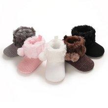 Теплые хлопковые ботинки для новорожденных девочек и мальчиков;