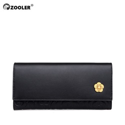 Hot Woman wallet Long COW leather purse Genuine leather bag wallets ZOOLER brand clutch woman money bag russia ship-fast 8663