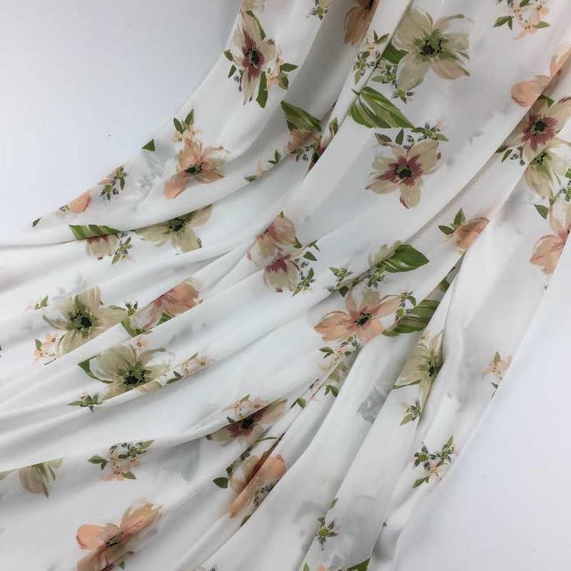 150cm * 100cm Chiffon gedrukt stof fee kleine verse dunne gedeelte gedrukt rok stof kleding zomer nieuwe mooie GD24