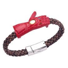 Marvel Film Theme Accessories Avengers 3 Element Bracelet Thanos Gloves Unisex Trendy Ornament Woven Wristband