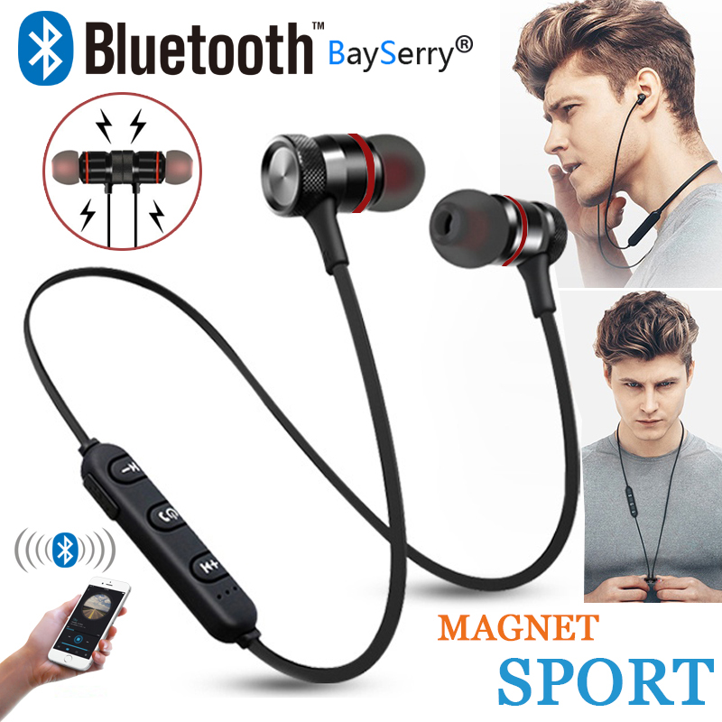 BaySerry Bluetooth 5.0 Wireless Headset Stereo Headphones Sports Magnetic Earphones for Xiaomi 7 8 9 Redmi Note 7 8 K30 K20 Pro