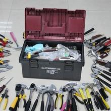 Hard Plastic Tool Case Household Impact Resistant Multifunction Tools Box Professional Cassetta Attrezzi Tools Packaging DK50TB