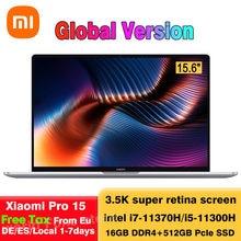 Yeni orijinal Xiaomi Pro 15 dizüstü çekirdek i7-11370H/i5-11300H 3.5K OLED ekran dizüstü bilgisayarlar MX450 GPU Windows 10 100% DCI-P3