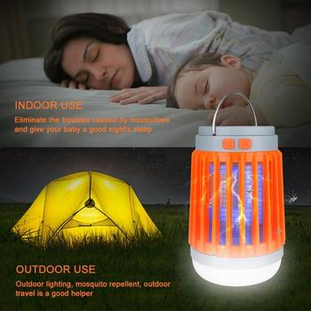 Solar Mosquito Killer Lamp Waterproof Insect Fly Bug Trap Light Flashlight Mosquito Zapper Light For Bedroom, Garden,Camping 4