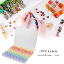 Hot 5D DIY Diamond Painting Drill Box Jewelry Box Rhinestone Embroidery Crystal Bead Organizer Storage Case Container Hot Sale(China)