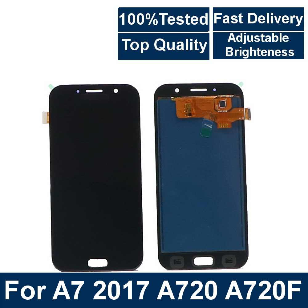 100% getestet Für Samsung Galaxy A7 2017 A720 SM-A720F A720M LCD touch screen digitizer komponente LCD ersatz telefon display