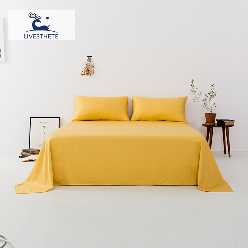 Liv Esthete New 100 Mulberry Silk Yellow Flat Sheet Luxury Silky Bed Linen Healthy Skin Pillowcase Queen King For Women Men in Sheet from Home Garden